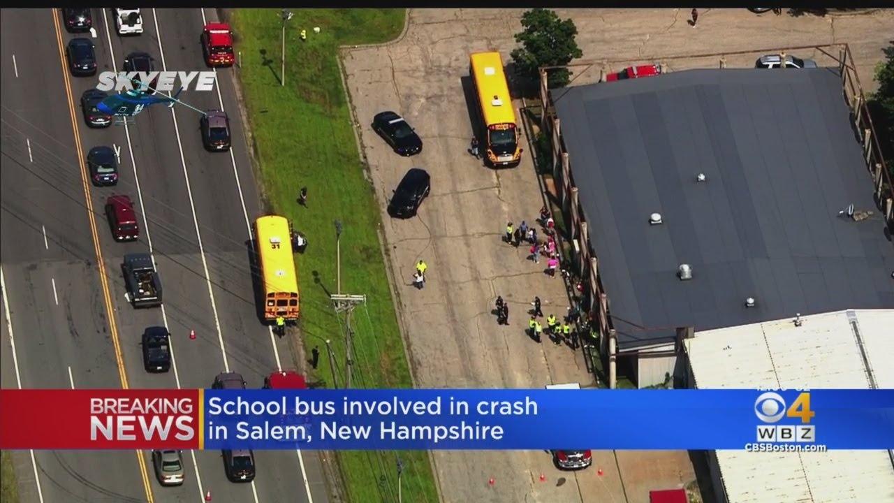 School Bus Full Of Campers, Dump Truck Involved In 3-Car Crash In Salem, NH