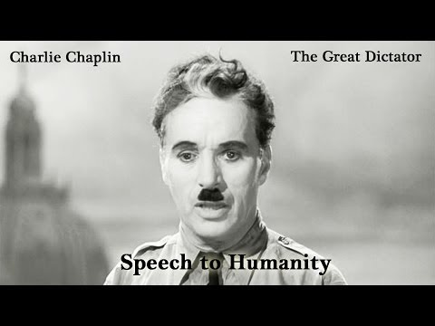 HD Charlie Chaplin - The Great Dictator: Speech to Humanity | HD