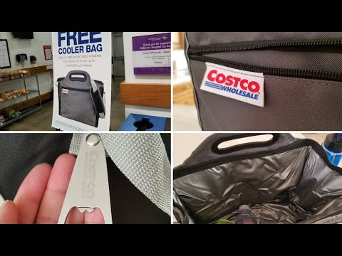 brand new 8e4c6 f5491 Costco Free Cooler Bag! Review! - YouTube