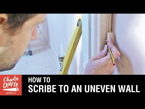 How to Scribe to an Uneven Wall