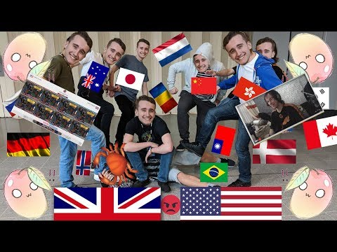 """osu! - OWC 2018 Grand Finals Highlight: Team UK and Team USA play """"Slodycze"""" (mapped by WubWoofWolf)"""