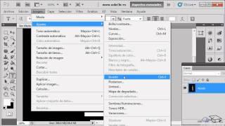 Curso de Photoshop CS5. Ejercicio 9.2. Letras de fuego.