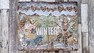 "Art Journal ""Winter"": in these pages I used a wonderful Dew Drop Mi..."