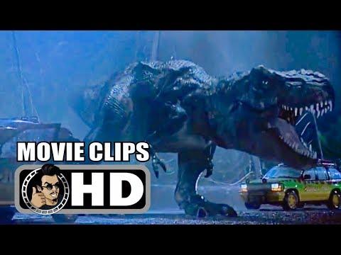 JURASSIC PARK Movie Clips - All T Rex Scenes (1993) Steven Spielberg Sci-Fi Adventure Movie HD