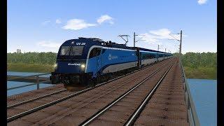 Microsoft Train Simulator - trať 321   railjet 73 Praha - Vídeň Ep. 8