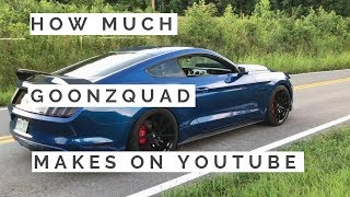How much Goonzquad makes on Youtube