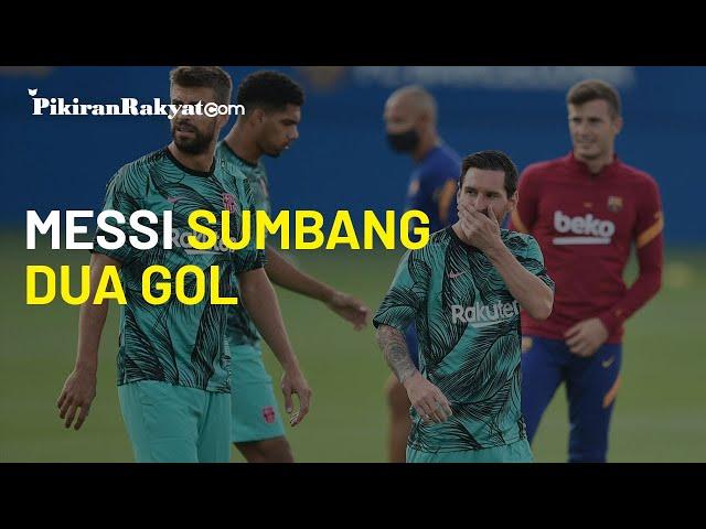 Lionel Messi Sumbang Dua Gol, Barcelona Perkasa di Laga Uji Coba