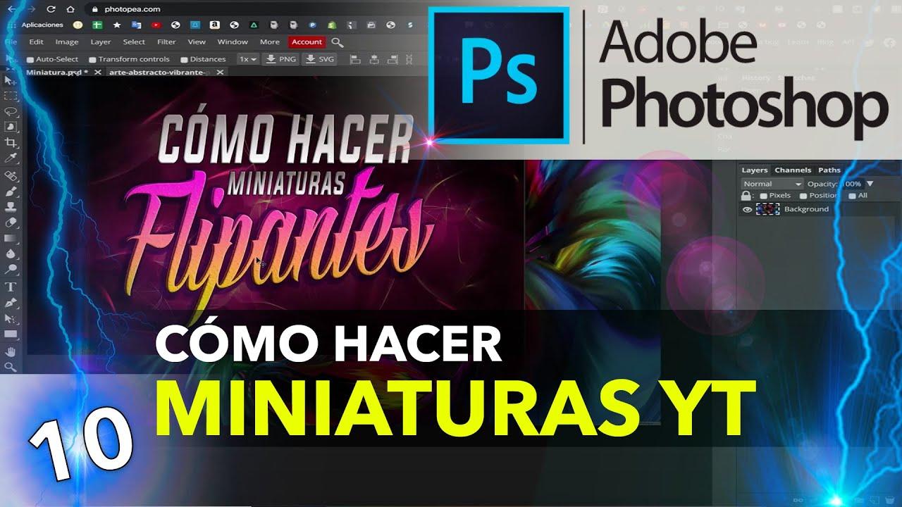 Cómo Hacer Miniaturas Para Youtube Perfectas Photoshop