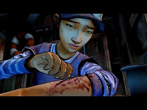 Rambo Style: Clementine Stitches Herself (Walking Dead | Telltale Games)