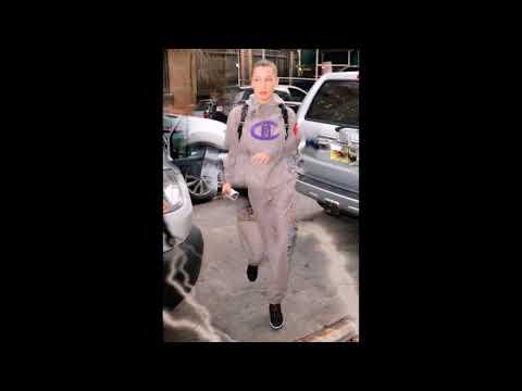 Bella Hadid is seen walking into Gotham GYM in Soho in New York City.