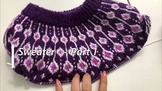 Knitting amazing double color …