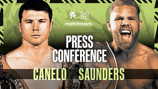 Canelo Alvarez vs Billy Joe Saunders press conference