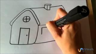 Como desenhar uma casa animada