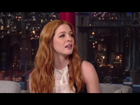 Rachelle Lefèvre dans le Late Night de David Letterman le 28 juillet 2014