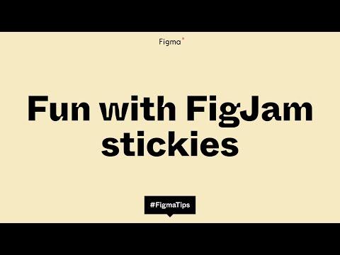 FigJam tip: fun with stickies