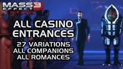 Mass Effect 3 Citadel DLC: All Casino Entrances (all 27 variations & all companions)