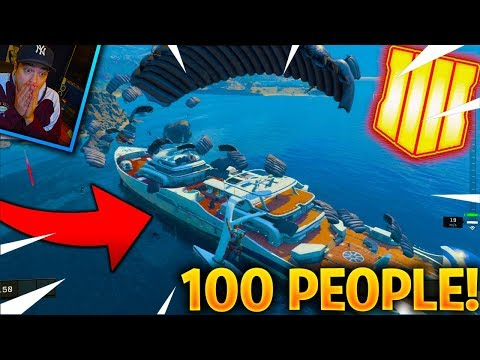 WHAT HAPPENS WHEN 100 PEOPLE LAND AT HIJACKED? - BLACKOUT MAP UPDATE [BLACK OPS 4 UPDATE 1.09]
