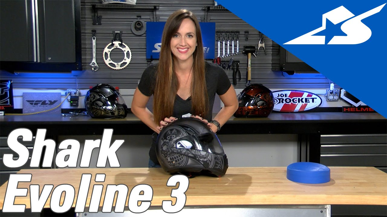 7fc8aacc8f06e5 Shark Evoline 3 Mezcal Chrome Review   Motorcycle Superstore - YouTube