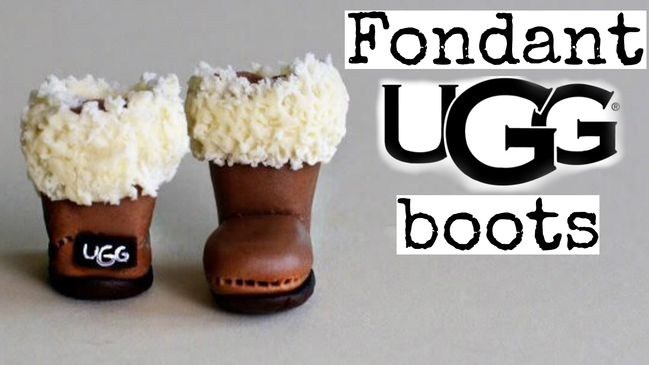 How To Make Fondant Ugg Boots Gumpaste Tutorial