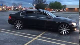 King Whips Custom BMW 750li E66 on 24 inch Velocity VW12s (Please Subscribe and Stay Tuned)