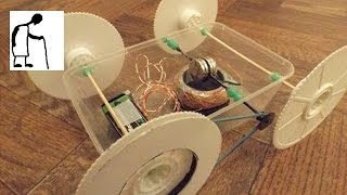 Home Made Electric Motor Drives Home Made Toy Car