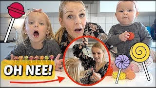 LOLLY CHALLENGE GAAT MiS! 😱 | Bellinga FamilieVloggers #1145