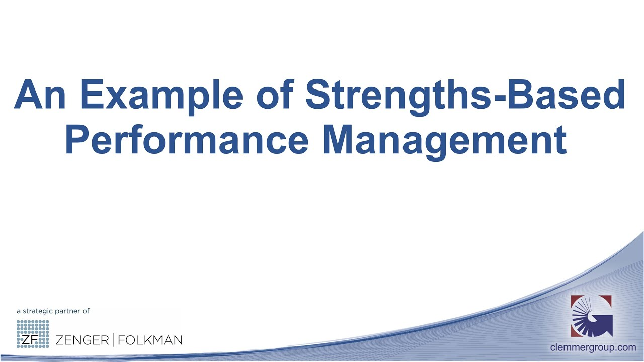 strengths and weaknesses performance management This is talent management and we can show you how  each individual to help  them succeed by harnessing their potential and capitalizing on their strengths.