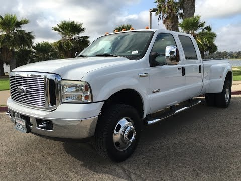 2006 Ford F350 Dually LARIAT Long Bed 4x4 6.0L DIESEL Crew Cab DRW LB LEATHER