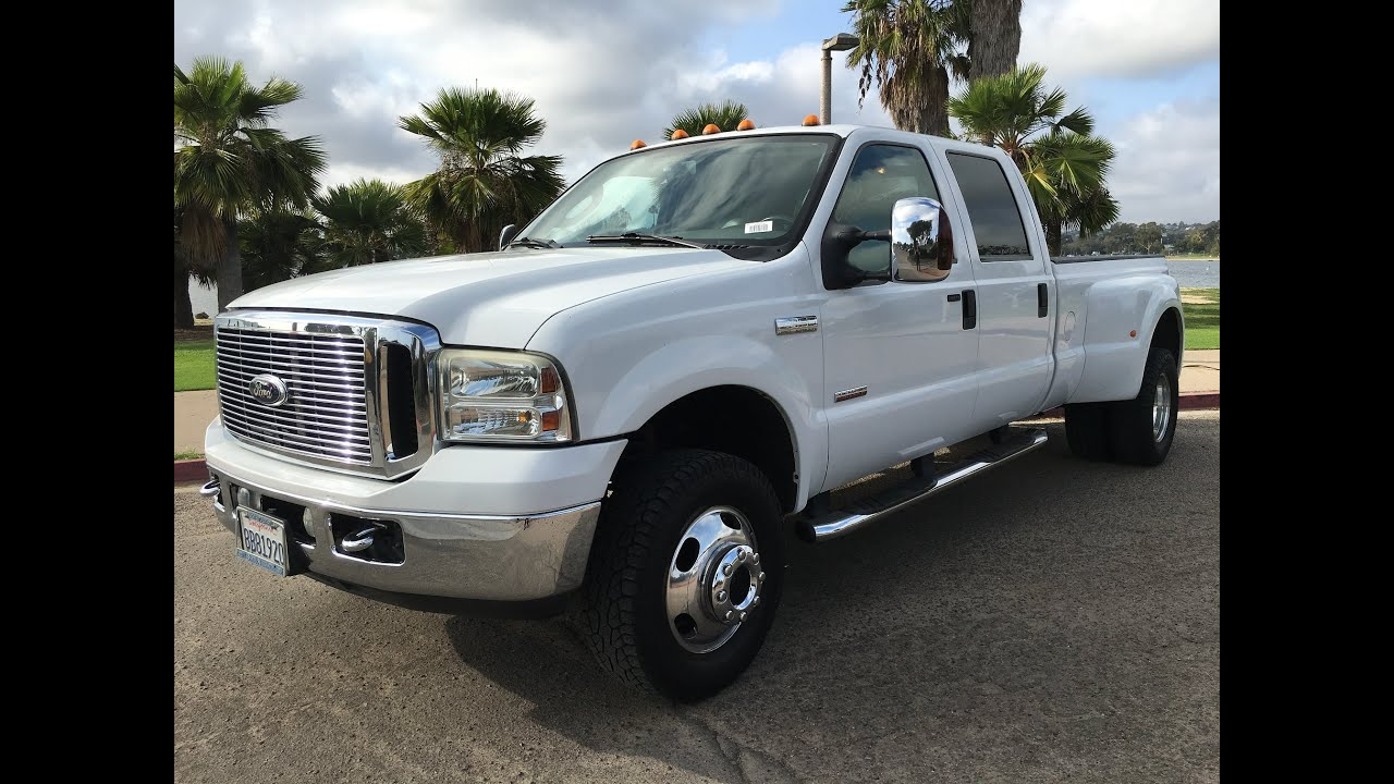 Ford F350 Dually Lariat Long Bed 4x4 6 0lsel Crew