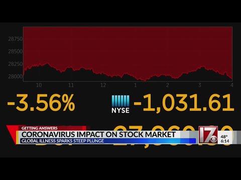 Coronavirus fears begin to affect stock market