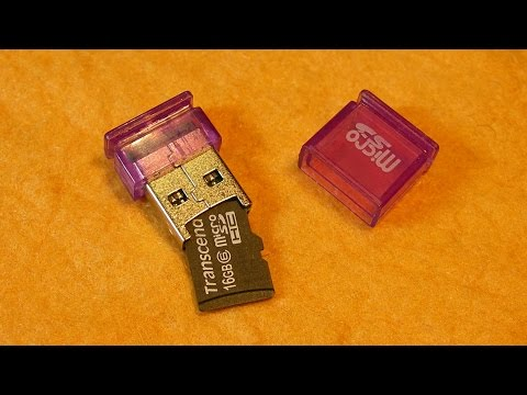 Мини картридер, адаптер-переходник Micro SD - USB