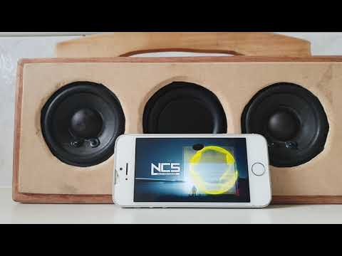 Diy homemade wooden bluetooth speaker sound  test