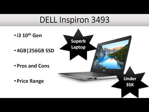 DELL Inspiron 3493 14 inch, intel 10th Gen Laptop Computer PC, 256GB SSD, 4GB, HD Graphics, Sci Tech