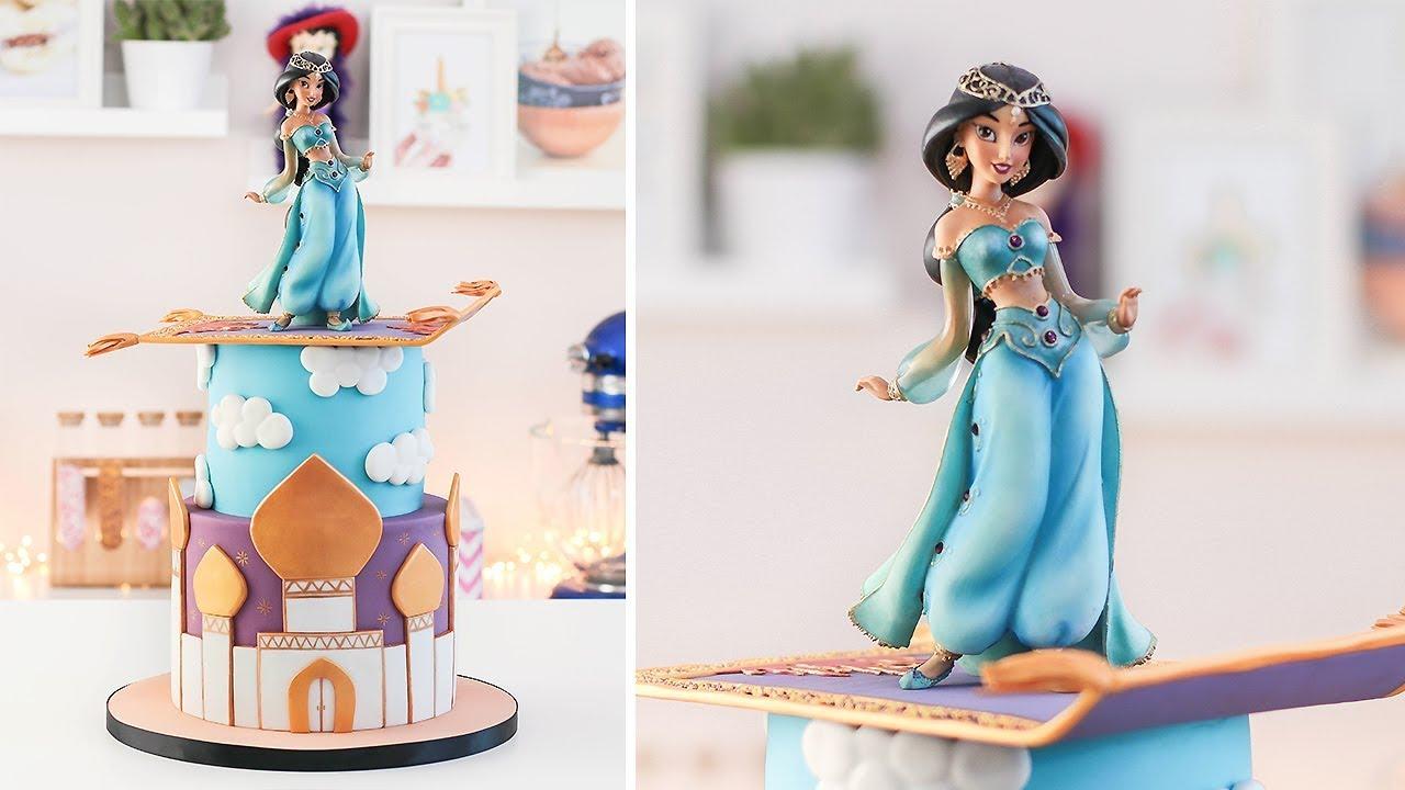Disney Princess Jasmine Aladdin Cake Tan Dulce Youtube