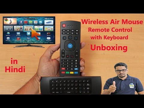 Hindi || Wireless Air Mouse Remote Control With Keyboard Unboxing