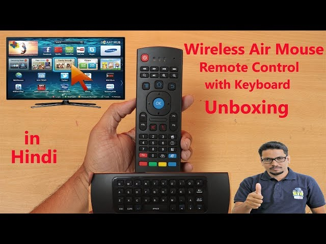 8f877572eb6 hindi || wireless air mouse remote control with keyboard unboxing >>  sahootechnoguide #stgunboxing www.sahootechnoguide.com, what is an air  mouse remote,air ...