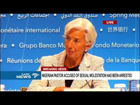 IMF's Christine Lagarde briefs the media on global economy