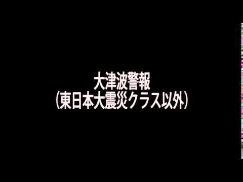 大津波警報(東日本大震災クラス以外)