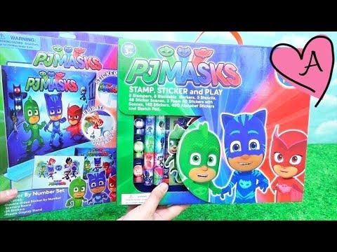 Dos sets para jugar con actividades de PJ Masks   Muñecas y juguetes con Andre para niñas y niños