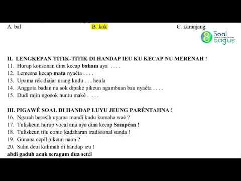 Soal Pts B Sunda Kelas 1 Dan Jawaban Th 2020 Youtube