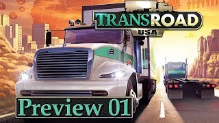 TRANSROAD USA 🚚 Preview Gameplay & Interview #1 ► LKW Logistik Wirtschaft Simulation deutsch german
