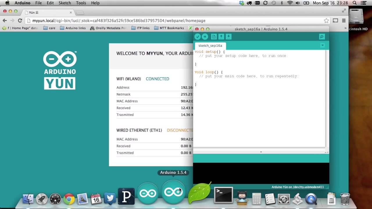Getting started with arduino yún tutorial youtube