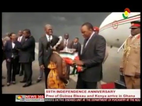 News360 - Prez of Guinea Bissau & Kenya arrives in Gh. for 59th independence anniversary - 5/3/2016