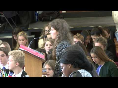 Royal Russell International Model United Nations - General Assembly and Closing Speeches