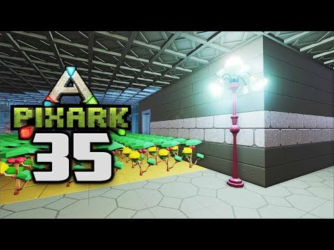 Electricity!  Omnidirectional Lamps! - Let's Play PixARK Gameplay Part 35 (PixARK Pooping Evolved)