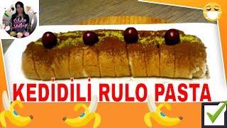 (Pasta) Kedi Diliyle Kahve Aromalı Rulo Pasta Nasıl yapılır ? Sibelin mutfağı ile yemek tarifleri