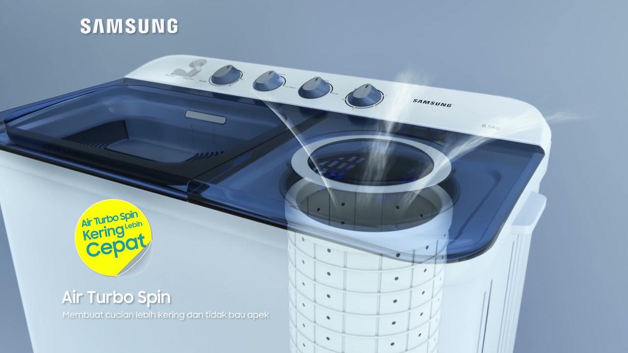 Samsung Indonesia : Cucian Kering Gak Pake Lama, Ya Mesin Cuci Twin Tub!
