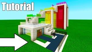 """Minecraft Tutorial: How To Make A Weird Modern House """"Modern House #11"""""""