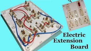 How To Make An Electric Extension Board with Fuse And Indicator