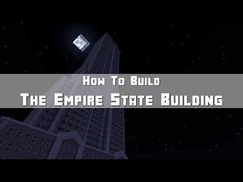 Minecraft: How To Build The Empire State Building (Skyscraper) Part 1 - The Base